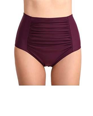 DAYANA Women's Swimwear High Waist Ruched Swim Bottom XXL