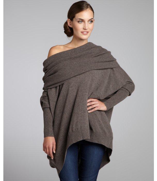 Autumn Cashmere hickory cashmere oversized cowl neck sweater