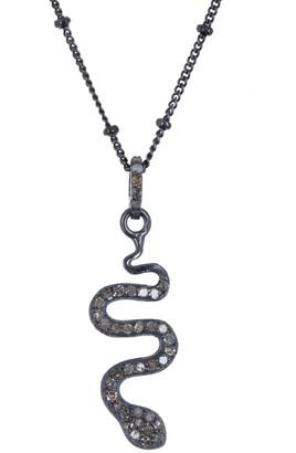 ADORNIA Diamond Snake Pendant Necklace - 0.20 ctw