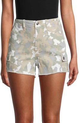 Vigoss Ace High-Rise Camo Denim Shorts