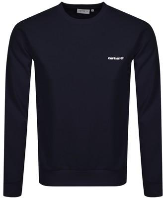 Carhartt Script Sweatshirt Navy