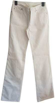 Louis Vuitton White Cotton Jeans for Women