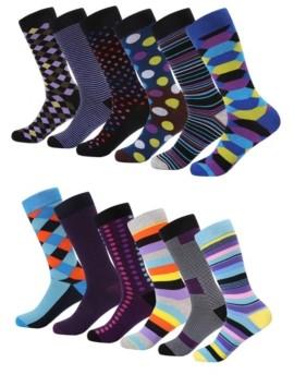 Mio Marino Men's Retro Collection Dress Socks Pack of 6