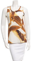 Carven Printed Sleeveless Top