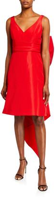 Carolina Herrera Taffeta Bow-Back Sleeveless Dress