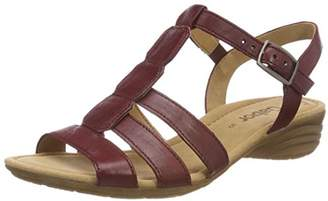 Gabor Women Casual Ankle Strap Sandals, Red (Dark-Red), (39 EU)