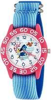 Disney Girl's 'Finding Dory' Quartz Plastic and Nylon Automatic Watch, Color:Blue (Model: W003015)