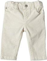 Petit Bateau Elastic Side Pants (Baby) - Ivory-6 Months