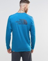 The North Face Long Sleeve Top With Easy Logo In Blue