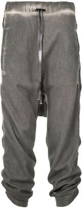 Boris Bidjan Saberi Ruched-Leg Drop-Crotch Trousers