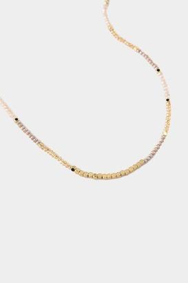 francesca's Gabrielle Beaded Strand Necklace - Mauve