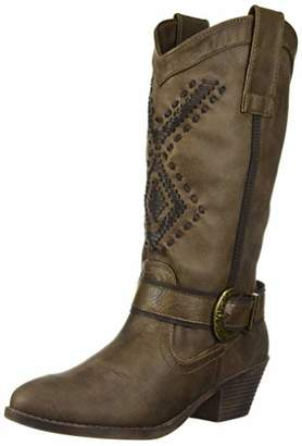 Rampage Snapper Womens Western Mid-Calf Low Heel Cowboy Riding Boot