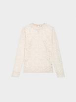 DKNY Velvet Lace Long Sleeve Shirt
