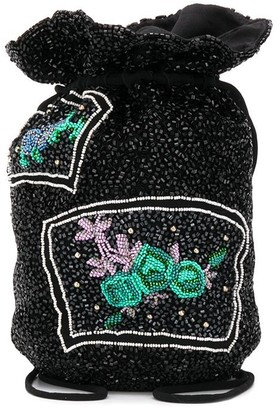 Ganni Beaded Drawstring Mini Bag
