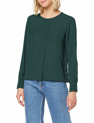 Scotch & Soda Maison Women's Silky Feel Top with Pleat at Front Blouse