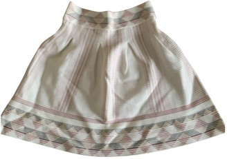 Maje Ecru Cotton - elasthane Skirt for Women