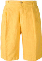 Etro knee-length chino shorts - men - Linen/Flax - 48