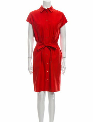 Hermes Silk Knee-Length Dress Orange