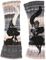 Antonio Marras Embroidered Fingerless Wool Knit Gloves