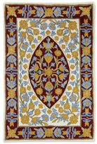 Novica Handcrafted Wool 'Sunny Flowers' Chain Stitch Rug (2x3) (India)
