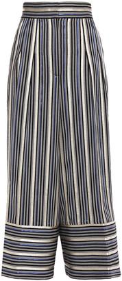 Peter Pilotto Metallic Striped Jacquard Culottes