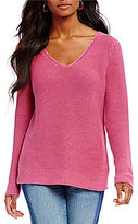 Tommy Bahama Sea Glass Texture V-Neck Pullover