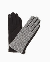 Charming charlie Herringbone Tweed Texting Gloves