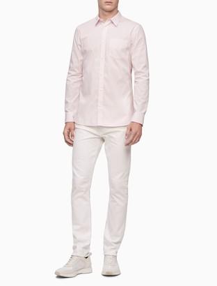 Calvin Klein Stretch Cotton Gingham Button-Down Shirt