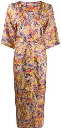 813 Printed Kimono Coat