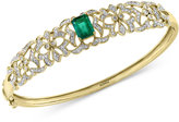 Effy Brasilica by Emerald (1-3/8 ct. t.w.) and Diamond (3/4 ct. t.w.) Bangle Bracelet in 14k Gold