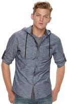 Rock & Republic Men's Hooded Button-Down Shirt