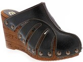 Sbicca Leather Wedge Clogs - Slauson