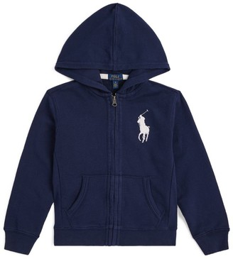Ralph Lauren Kids Cotton Logo Zip-Up Hoodie (6-14 Years)
