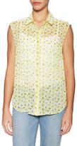 The Kooples Floral Printed Sleeveless Shirt