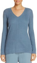 Eileen Fisher Petites V-Neck High/Low Sweater