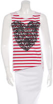 Stella McCartney Sleeveless Heart Print Top
