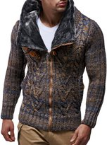 LEIF NELSON Men's Knitted Jacket Cardigan 3X-Large