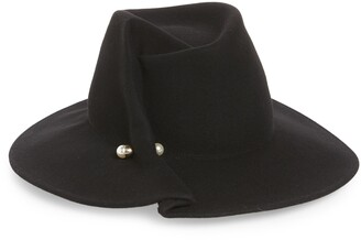 Eugenia Kim Pierced Felted Wool Fedora