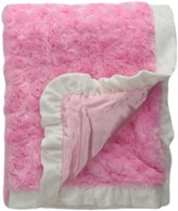 Baby Starters Plush Swirl Blanket, Bow, Pink