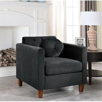 Everly Quinn Rashid Armchair Upholstery Color: Black
