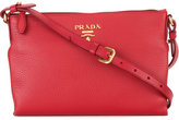 Prada logo plaque crossbody bag - women - Calf Leather - One Size