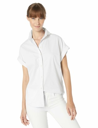 Chaps Women's Short Sleeve Stretch Poplin Shirt