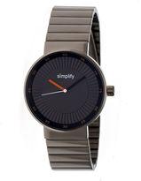 Simplify The 4600 Unisex Gray Bracelet Watch-Sim4606