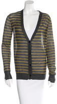 Alexander Wang Stripe Wool-Blend Cardigan