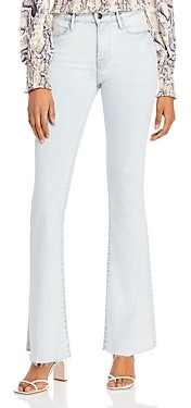 Frame Le High Flare-Leg Raw Hem Jeans in Pali