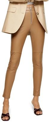 Topshop Tammy Faux Leather Biker Pants