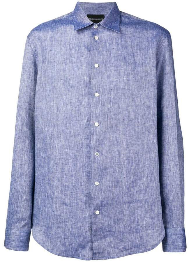Emporio Armani plain button shirt