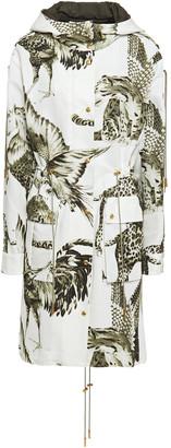 Roberto Cavalli Printed Cotton-blend Faille Hooded Parka