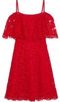 Valentino Cold-shoulder Cotton-blend Corded Lace Mini Dress