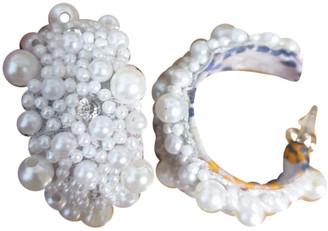 Deepa Gurnani White Pearls Earrings